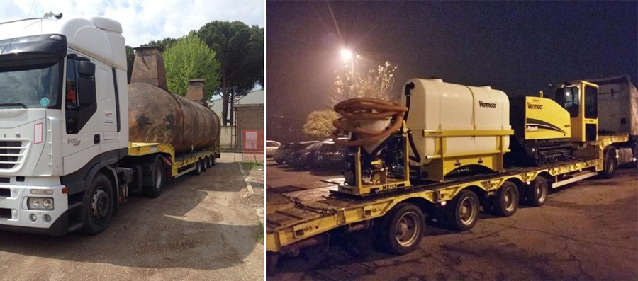 Noleggio camion cantiere - Impresa Giammaria